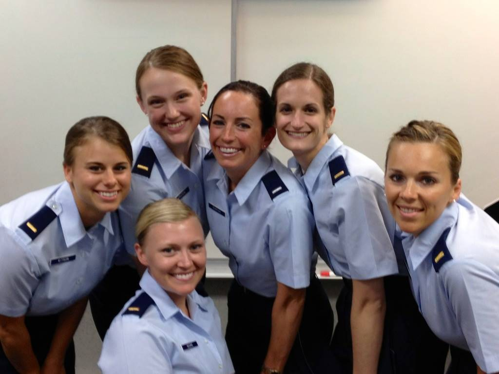 Amanda Kitson with U.S. Air Force associates