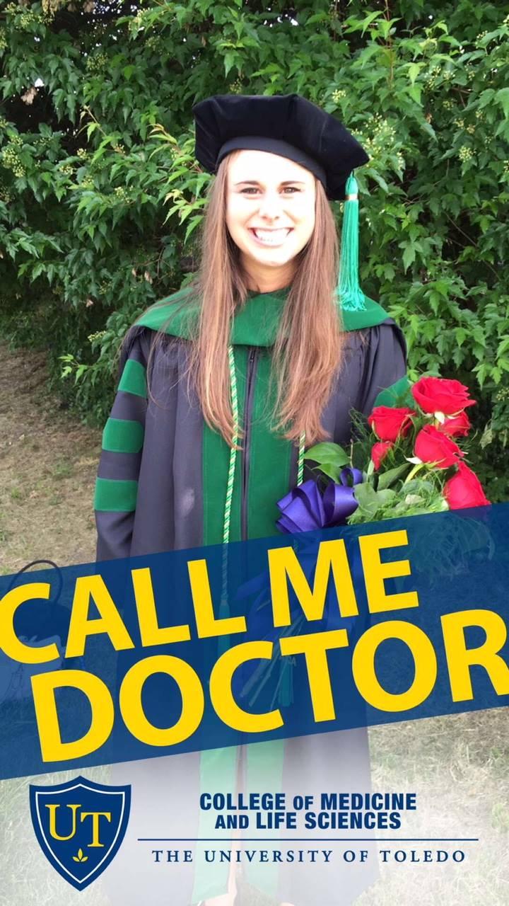 Amanda Kitson graduting from the University of Toledo