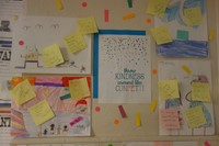 student pictures with notes