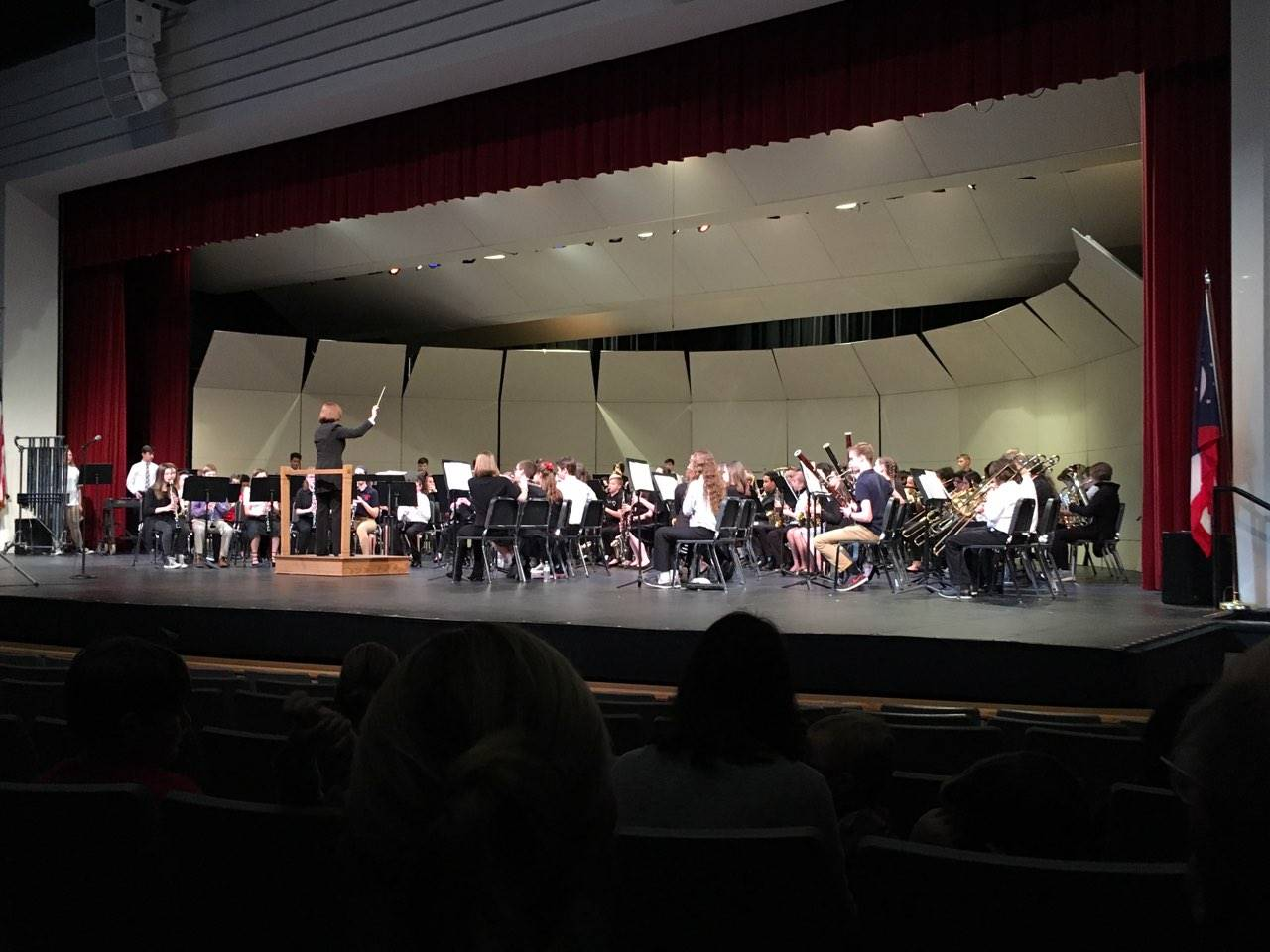 students participating in the D7 Honor Band performance