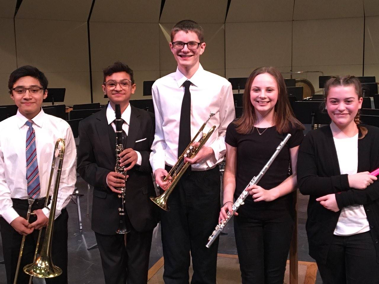 Garfield Heights Middle School student musicians