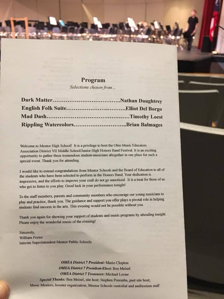 OMEA Honor Band program