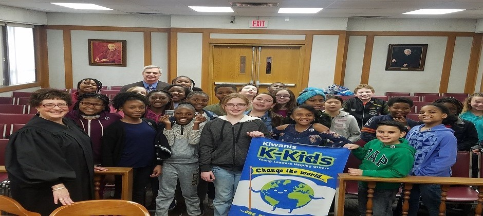 Maple Leaf K-Club with Judge Nicastro at Juvenile Court