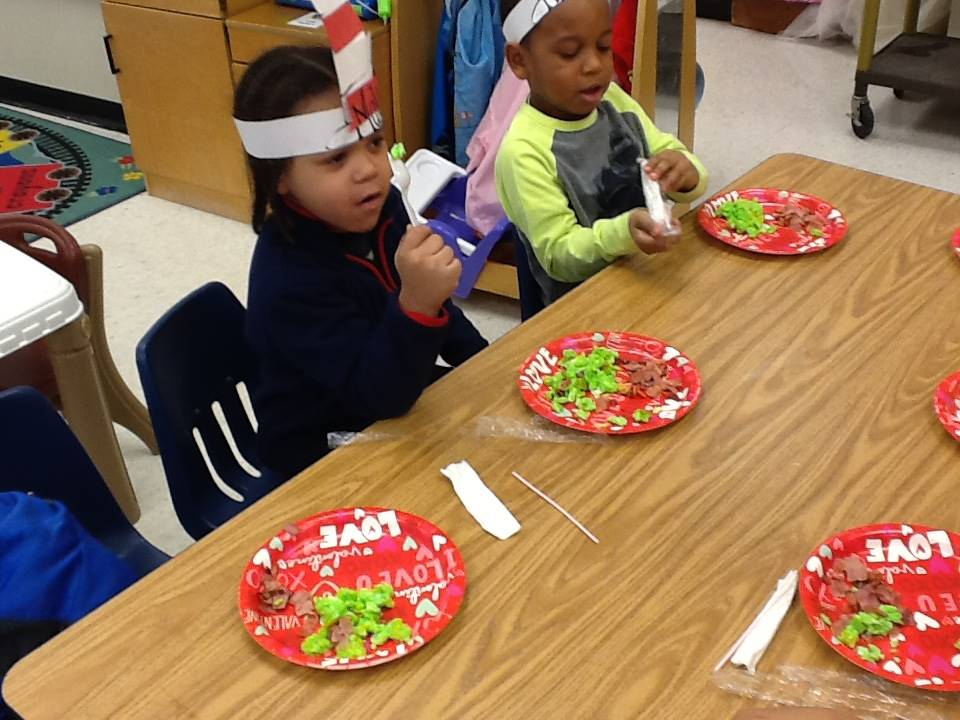 Head Start and Preschool Trying Green Eggs & Ham