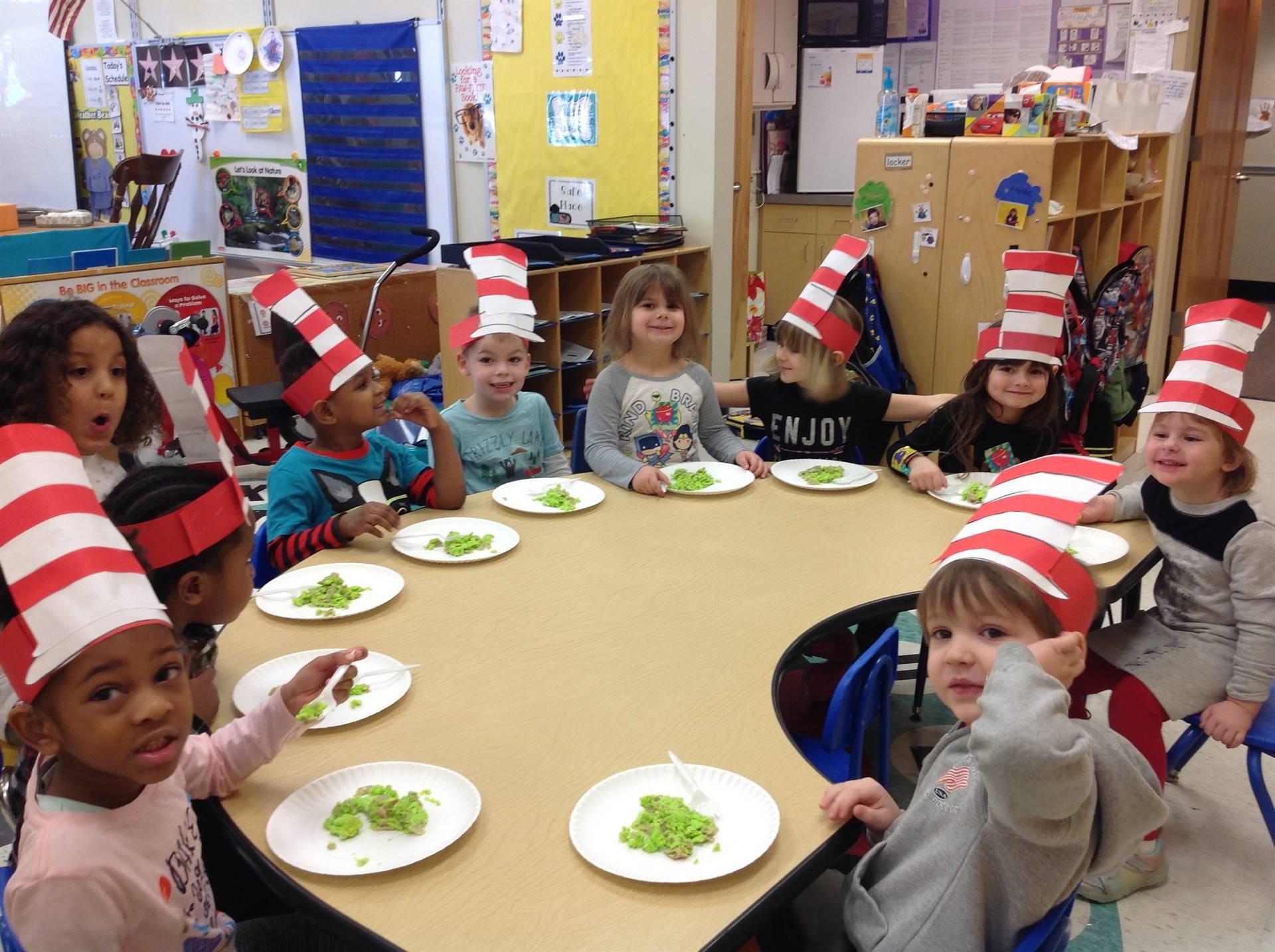 Head Start and Preschool Trying Green Eggs & Ham