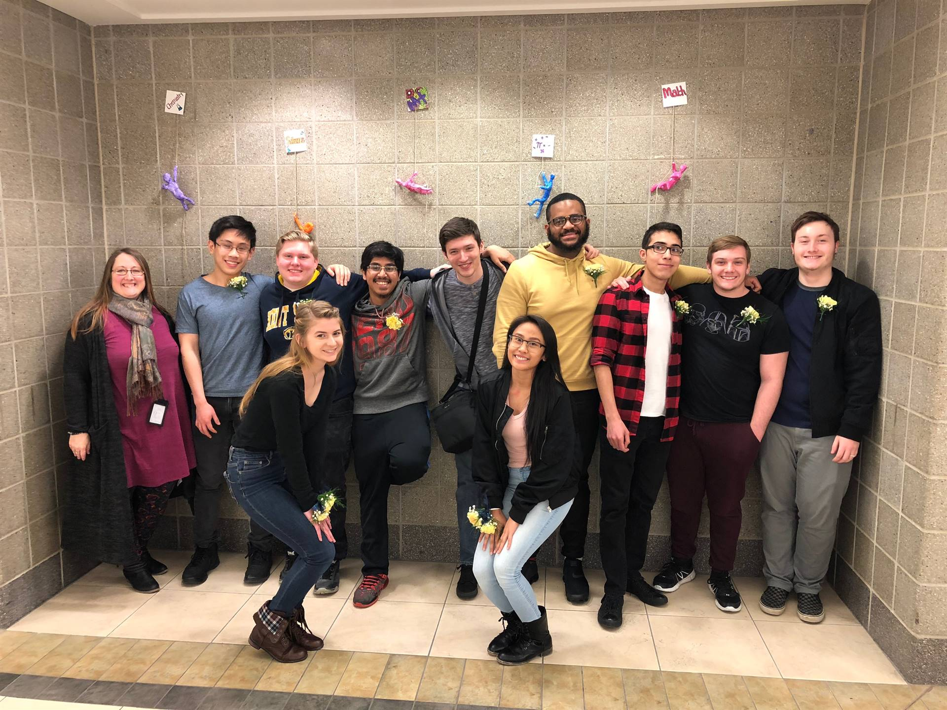 Class of 2018 Top 10 with principal