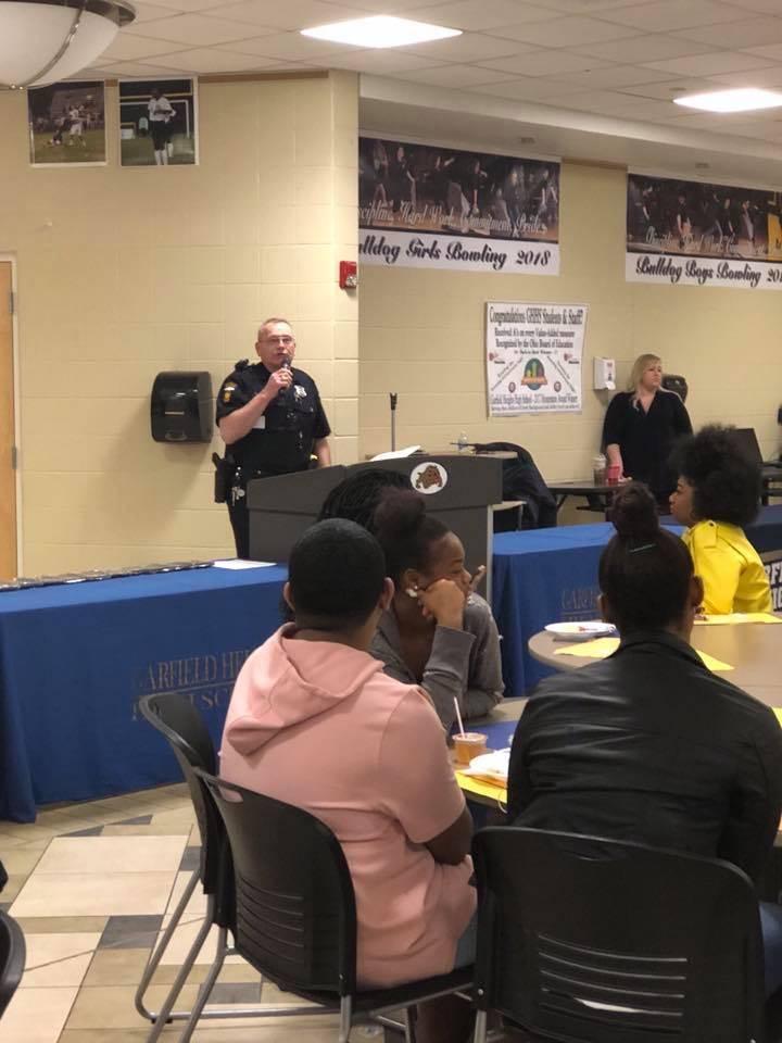 Officer Dillon Speaking to Seniors
