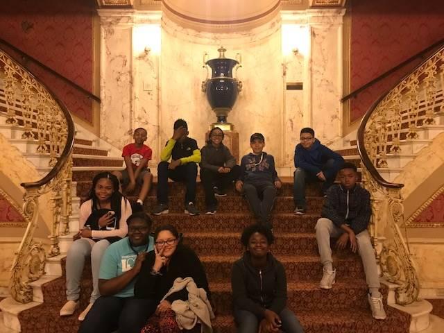 students at Playhouse Square