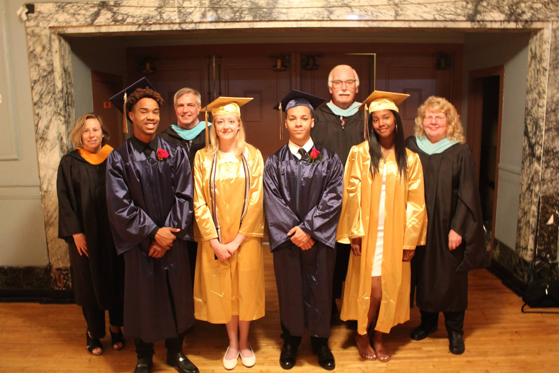Board Members with Students