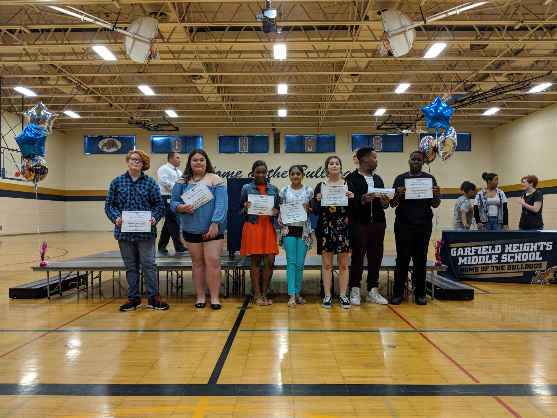 8th Grade Awards Night 2018