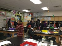 Students learning about sound