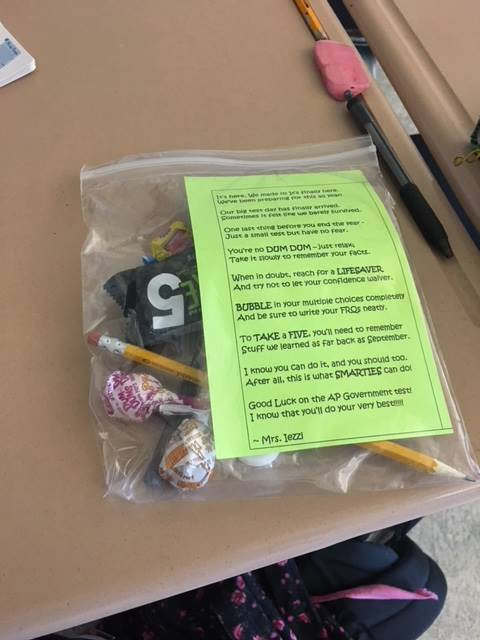 AP Government testing treat bags