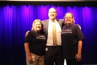 Julie Nichols, High School cafeteria, and Dana Ogorek, Elmwood 1st Grade Teacher with Chris Hanke