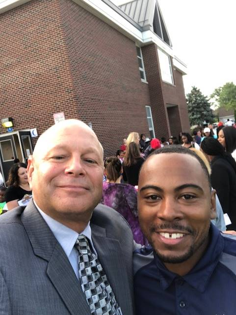 superintendent with a parent