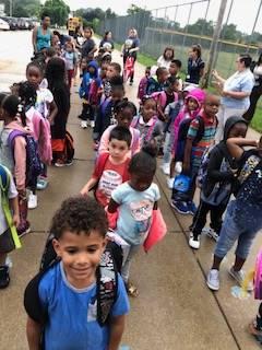 William Foster Kindergarten 1st day of school