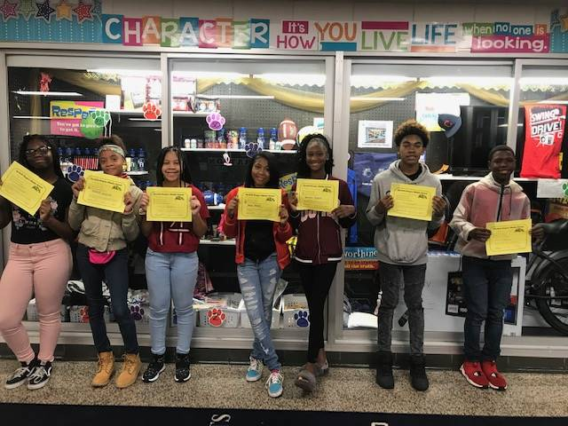 Student with Positive Behavior Referral Certificates