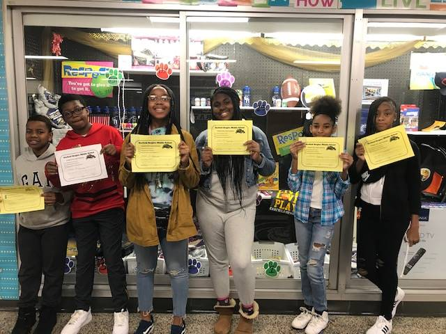 Students with the PBIS Certificates.