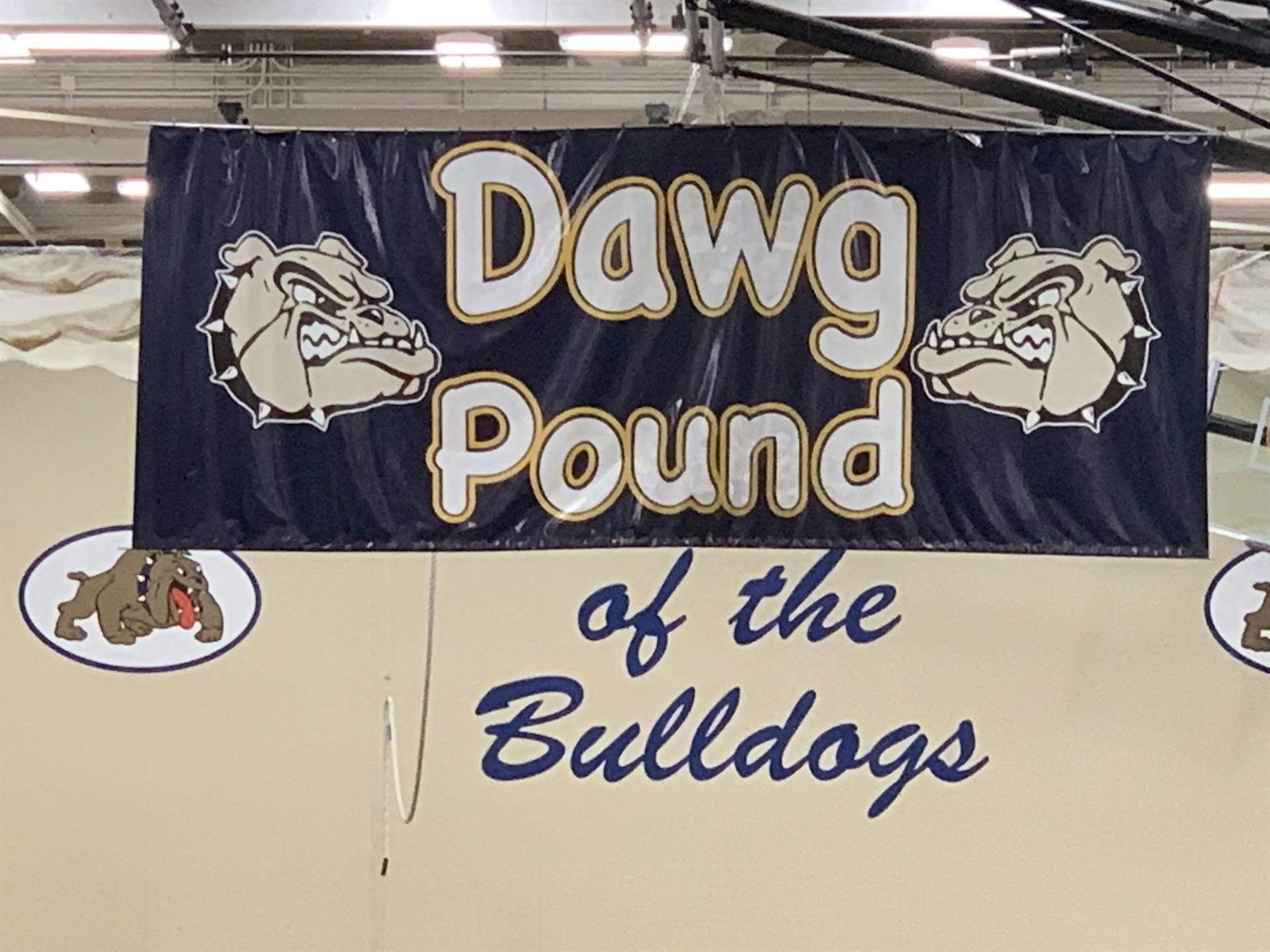 Dawg Pound sign in the Gym