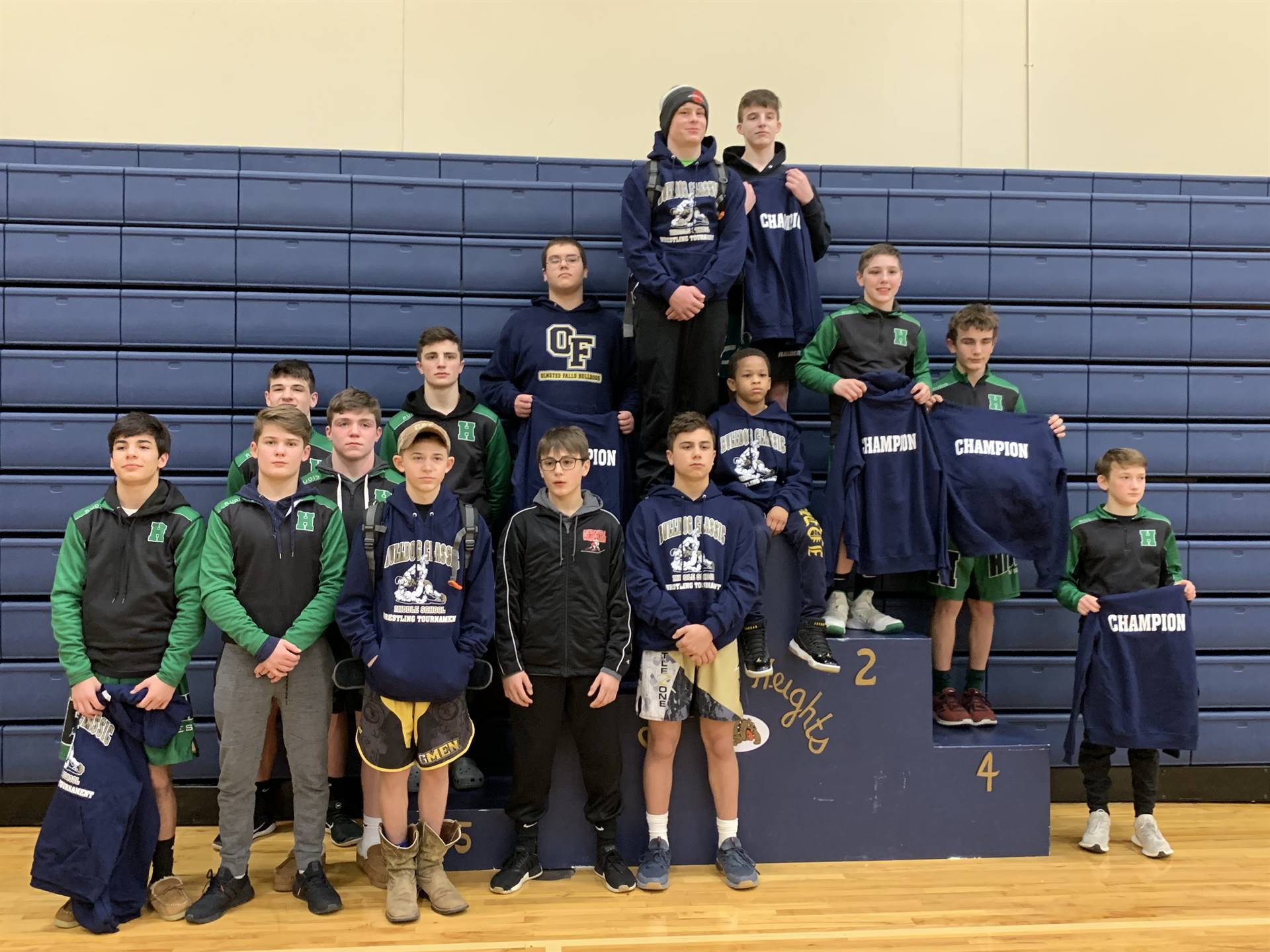 Garfield Heights wrestlers.