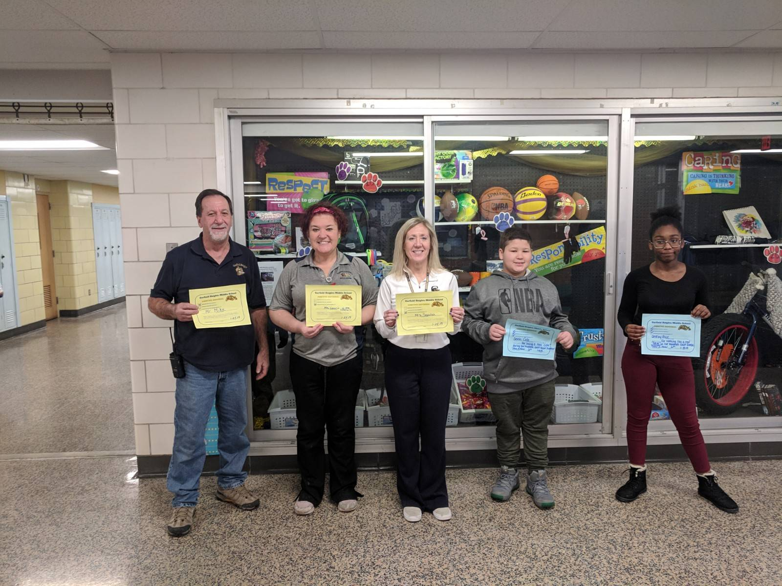 Students and staff members with positive referral certificates
