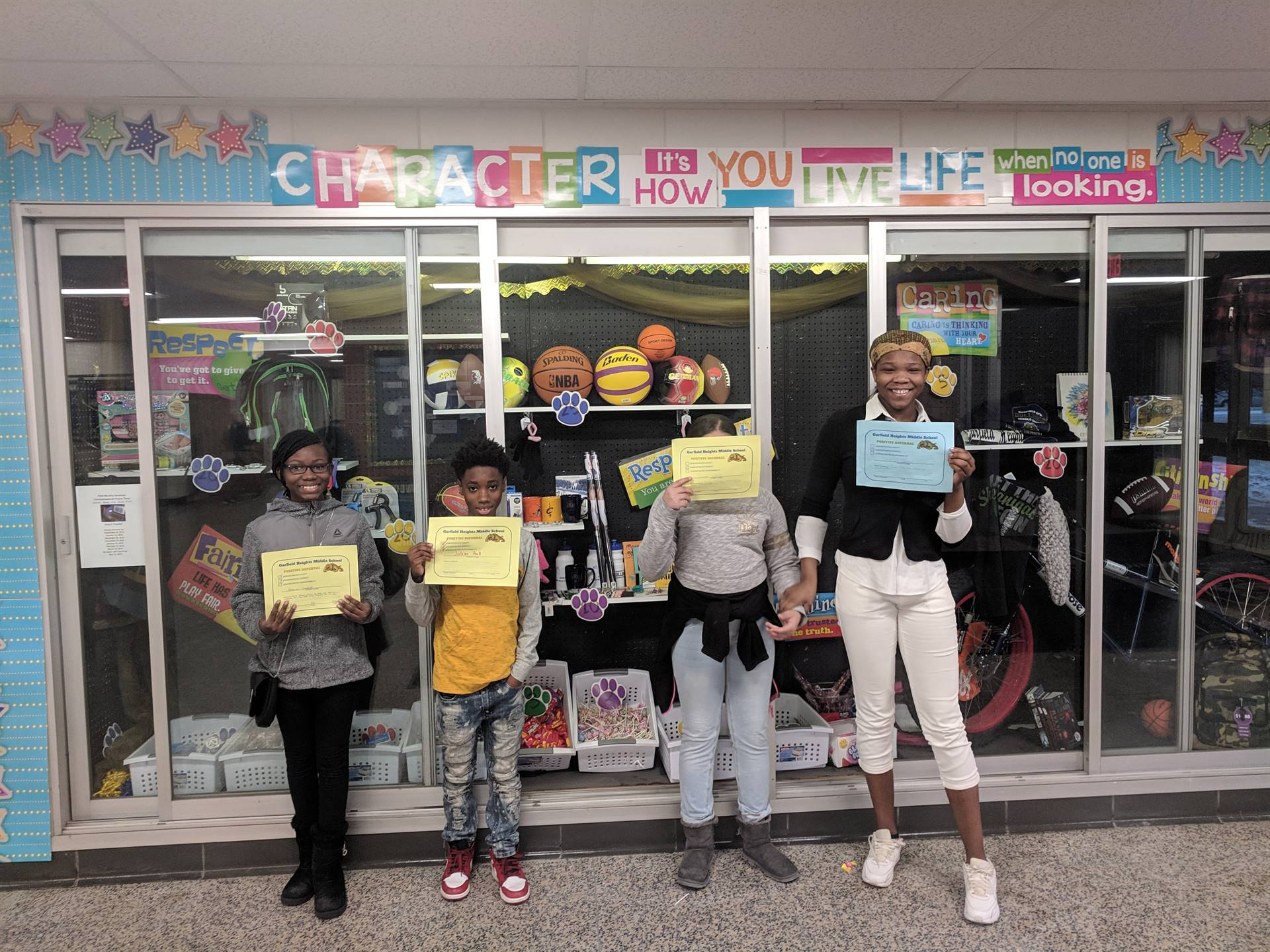 Students with their Award Certificates