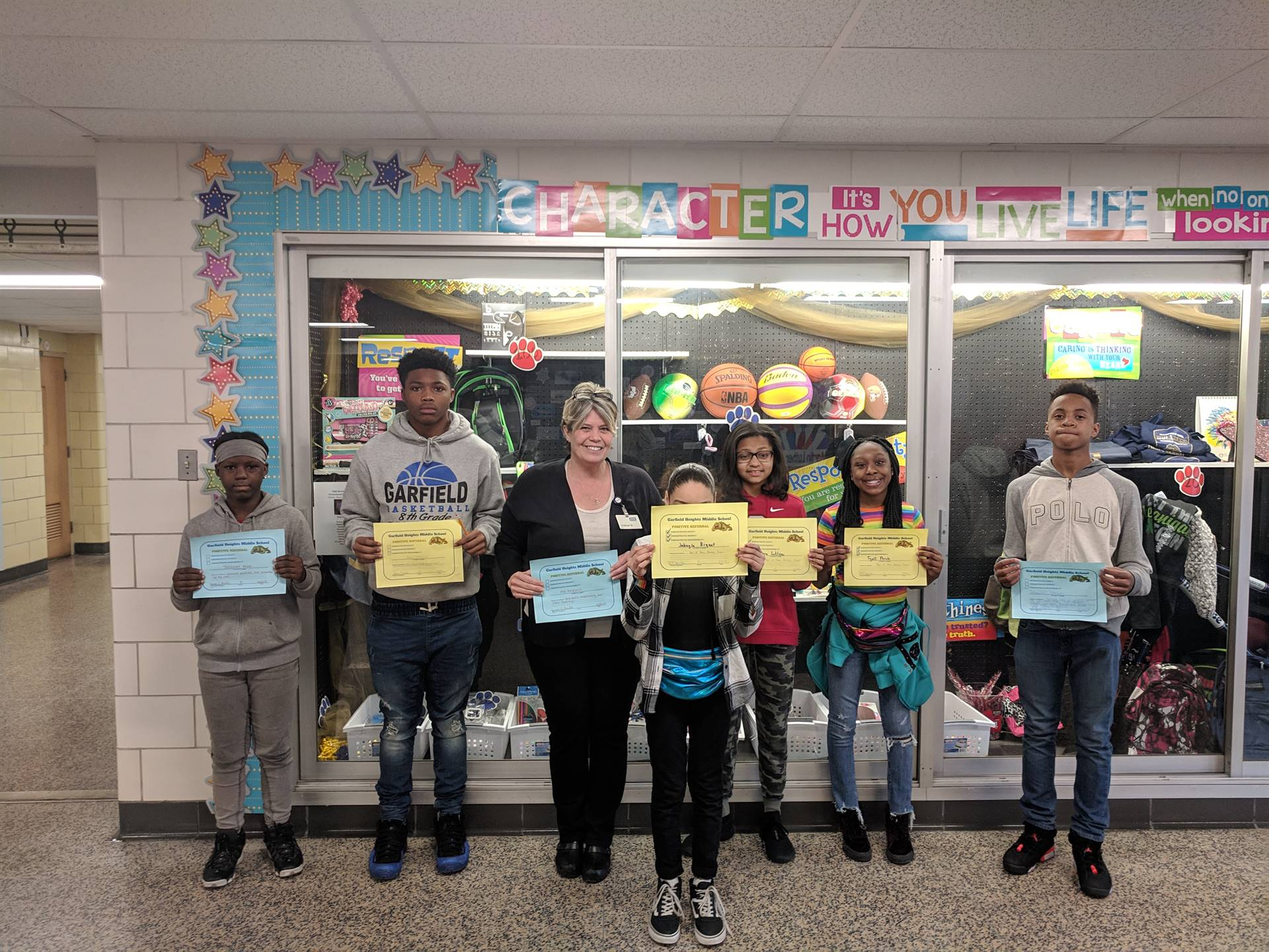 Students with their Positive Referall Certificates.