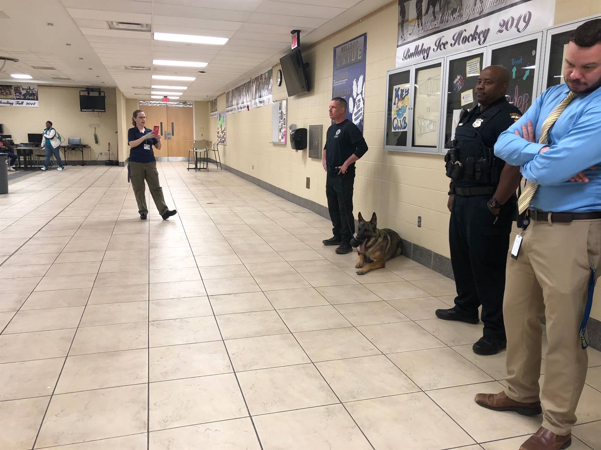 The Garfield Heights Police Department's K-9 unit visited the High School