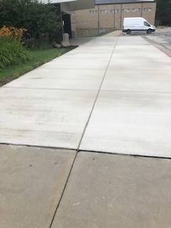 New concrete at the Middle School