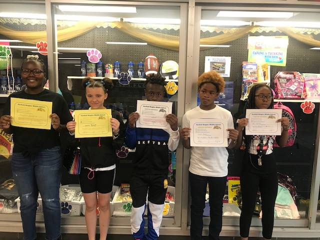 Students with their Positive Referrals