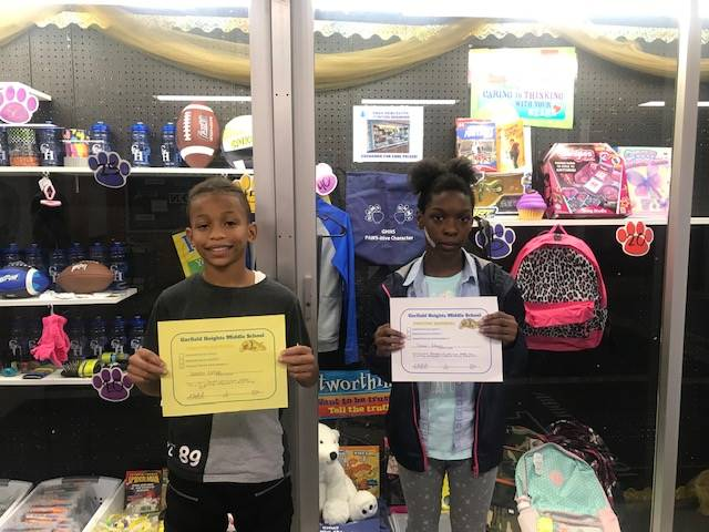 Students with their Positive Referral Certificates