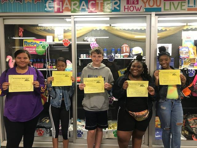 Students with their PBIS Certificates