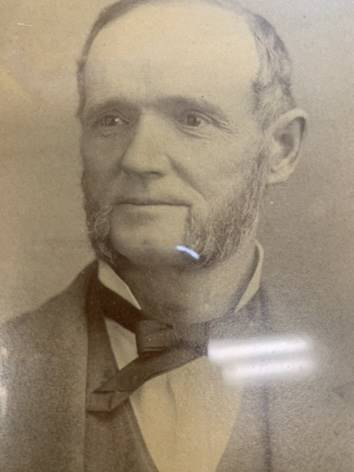Picture of Mrs. Routh's ancestor, Abram Bowen Martin.