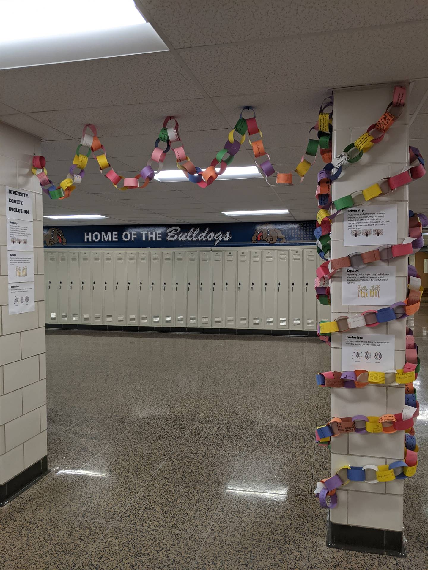 DEI - Unity Chain displayed in the MS Diversity Corridor