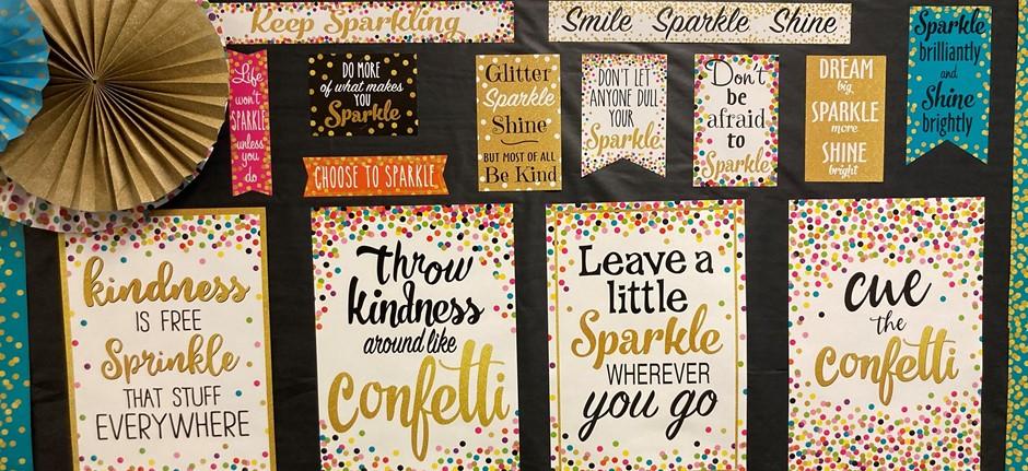 Sparkle bulletin board